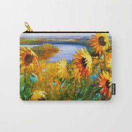 Sunflowers by the river Carry-All Pouch