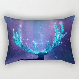 Greenery Deer - Sterling Magenta Rectangular Pillow