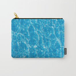 Blue pool water texture - fresh water background Carry-All Pouch