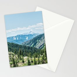 Mountain Landscape // Ski Resort Runs in Summer Epic Green Forest Wilderness Photograph Stationery Cards
