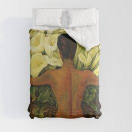 Nude with Calla Lilies by Deigo Rivera Comforters