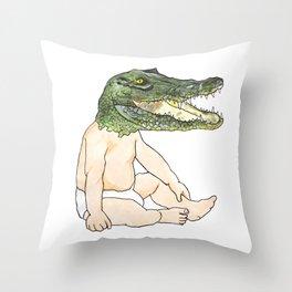 Croc Baby Throw Pillow