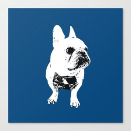 George the cutest French Bulldog Canvas Print