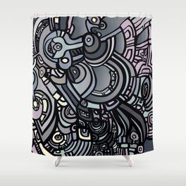 ROBOTS OF THE WORLD Shower Curtain