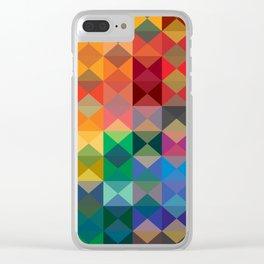 P2: Dusk Diamonds Clear iPhone Case
