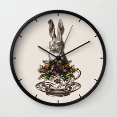 Rabbit in a Teacup Wall Clock