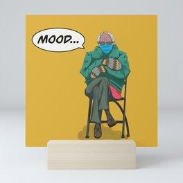 Comic Bernie Mittens Mini Art Print