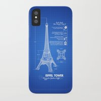 eiffel tower iPhone & iPod Cases featuring  Eiffel Tower by mewdew