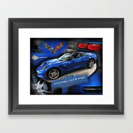 2016 Corvette Stingray Coupe Framed Art Print