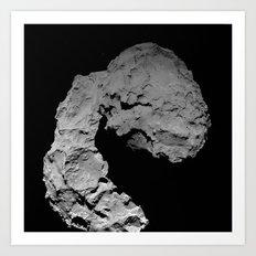 Rosetta's comet descent Art Print