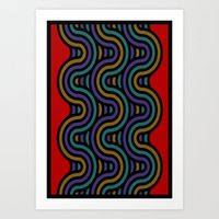 ramen Art Prints featuring ramen by bigpoppae
