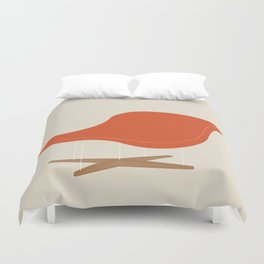 Orange La Chaise Chair by Charles & Ray Eames Duvet Cover