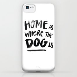 Home is Where the Dog is iPhone Case
