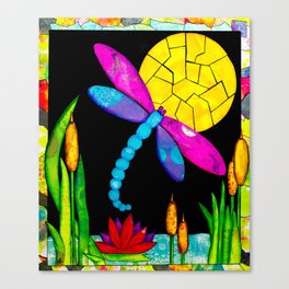 Find Your Way - paper pieced dragonfly Canvas Print