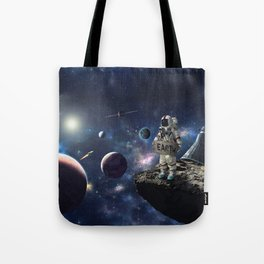 Stuck in Space Tote Bag
