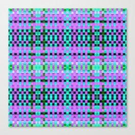 Calypso Tartan / Uva Canvas Print