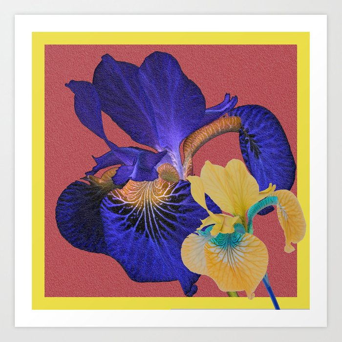 Iris Floral Hug Love Art Print