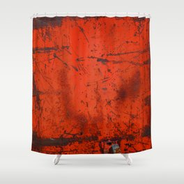 Red Roof Hatch Shower Curtain