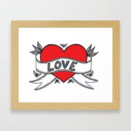 Declare your love! Framed Art Print