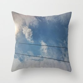 clouds and wire, abstract, no.04 Throw Pillow