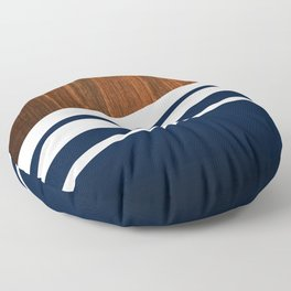 Wooden Navy Floor Pillow
