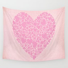 Rose Hearts Wall Tapestry