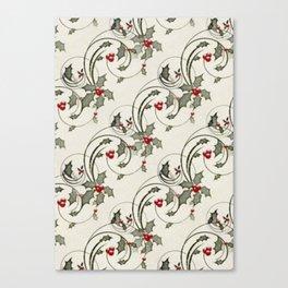 Holly Holiday Vintag Canvas Print