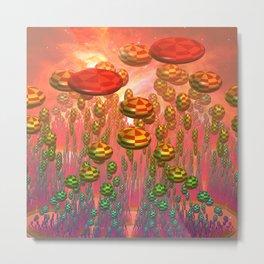Fantasy alien garden Metal Print