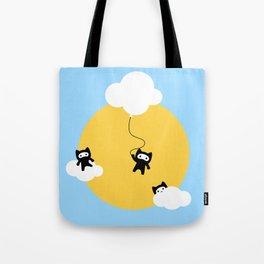 Ninja cats in the sky Tote Bag