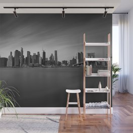 Manhattan Skyline Monochrome Wall Mural