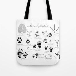 Animal Tracks Tote Bag