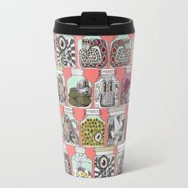 weird pickles coral Travel Mug