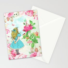 Alice in Wonderland tea party Stationery Cards