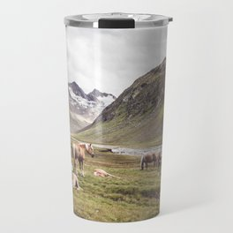 Tyrolean Haflinger horses I Travel Mug