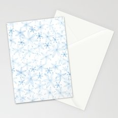 Flowers in light blue pattern Stationery Cards