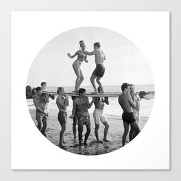 Beach Party 2 Canvas Print