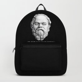 Famous Quote from Socrates Greek Philosopher Design Backpack