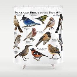 Backyard Bird of the Bay Area Shower Curtain