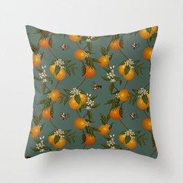 Orange Pattern II Throw Pillow