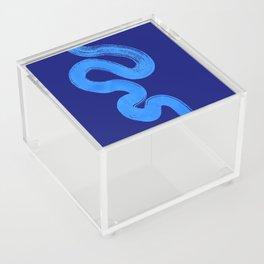 blue pathways Acrylic Box
