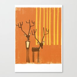 Woodland Deer Canvas Print