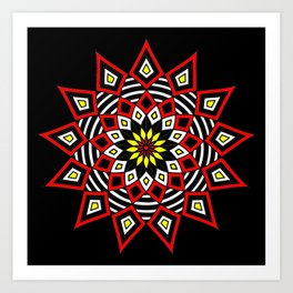 Stars Up to the Sky | Mandhala | Mother Star Art Print