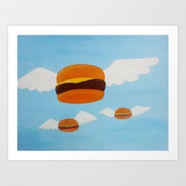 Bob's Flying Burgers Art Print