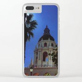 Pasadena City Hall Clear iPhone Case