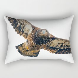 Young Bald Eagle in Breathtaking Flyby Rectangular Pillow