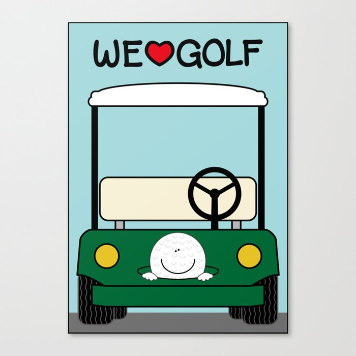 WE♥GOLF Canvas Print