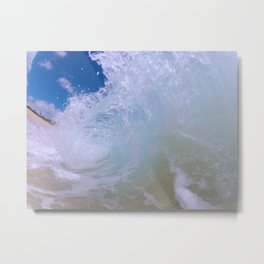 Frost Wave Metal Print
