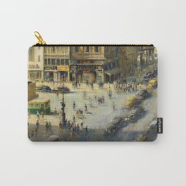 American Masterpiece 'Greenwich Village, NY' by Alfred S. Mira Carry-All Pouch