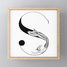Mermaid Alphabet - S Framed Mini Art Print