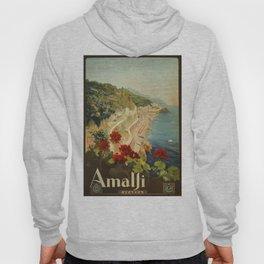 Vintage Travel Ad Amalfi Italy Hoody